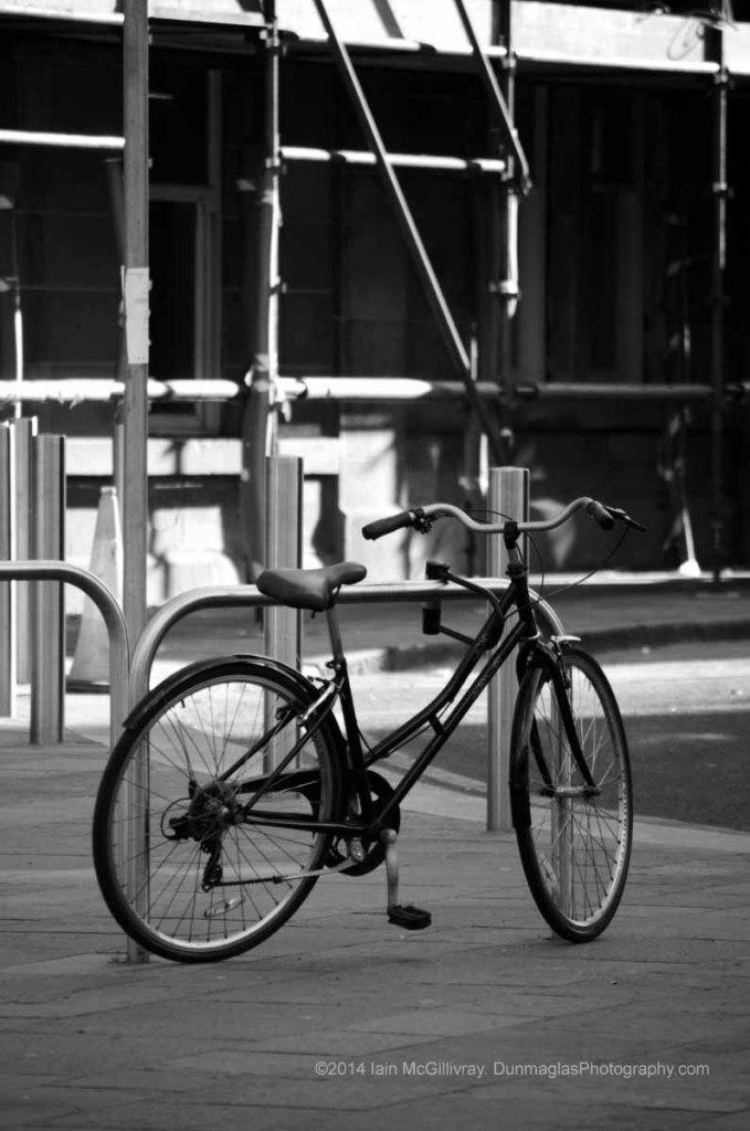 Bicycle park next to Saltmarket