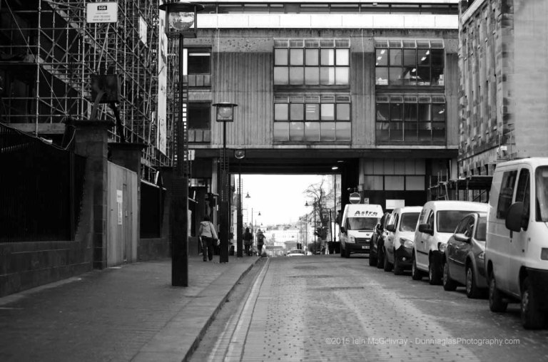 Renfrew Street at the Glasgow School of Art   - black and white monochrome urban and street scenes project gallery collections from Dunmaglas Photography